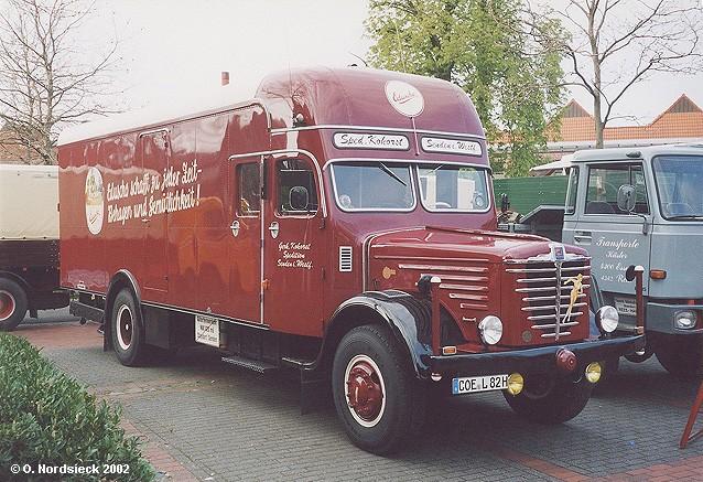 1957 Büssing LS 11 Koffer-Lkw (geschlossener Aufbau)