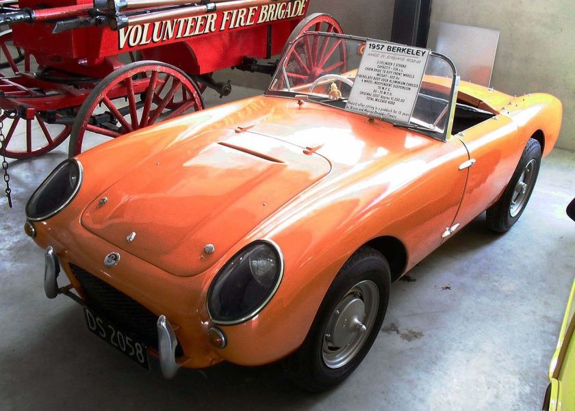 1957 Berkeley 328cc roadster at the Geraldine Vintage Car & Machinery Club Museum, New Zealand
