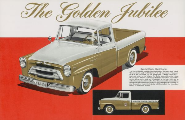 1957 International A 100 Golden Jubilee Truck