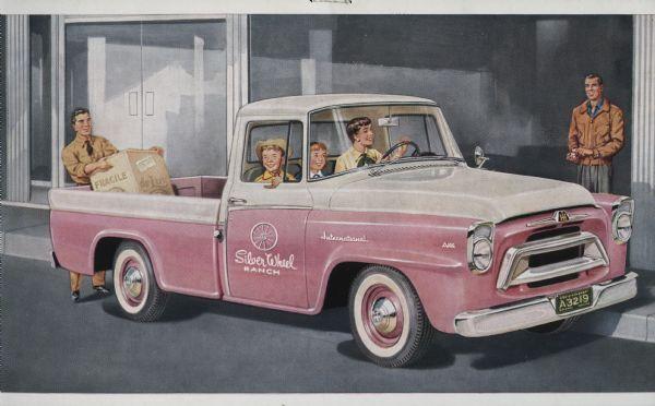 1957 International A-100 Truck Postcard