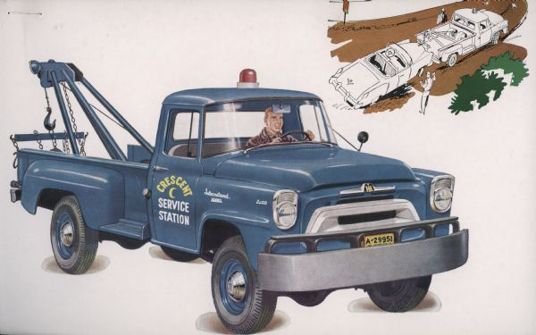 1957 International A-120 4x4 Truck Postcard