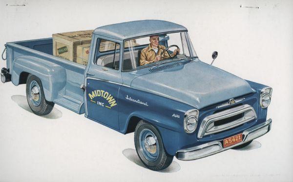 1957 International A-120 Truck Postcard
