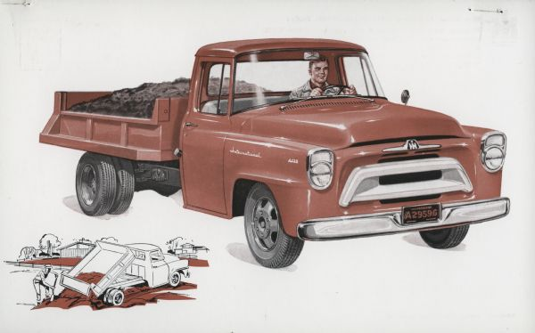 1957 International A-130 Truck Postcard