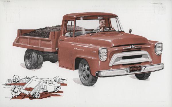 1957 International A-130 Truck Postcard