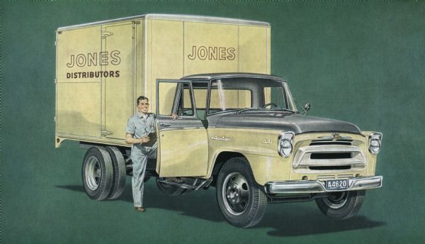 1957 International A-150 Truck Postcard