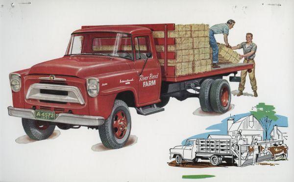 1957 International A-160 Truck Postcard