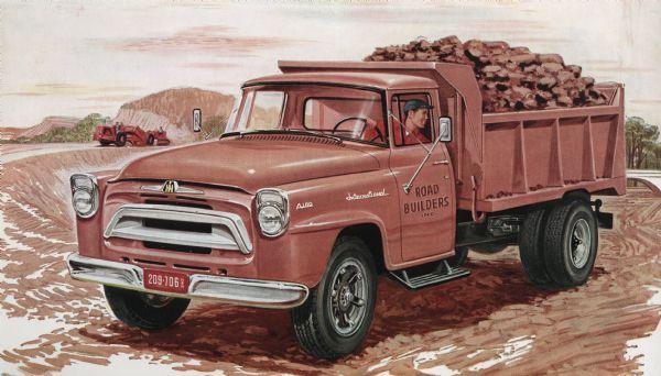1957 International A-180 Truck Postcard
