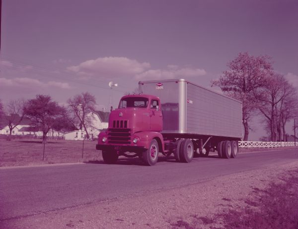 1958 International R-195 Truck-Tilt Cab with Closed Top Van Body