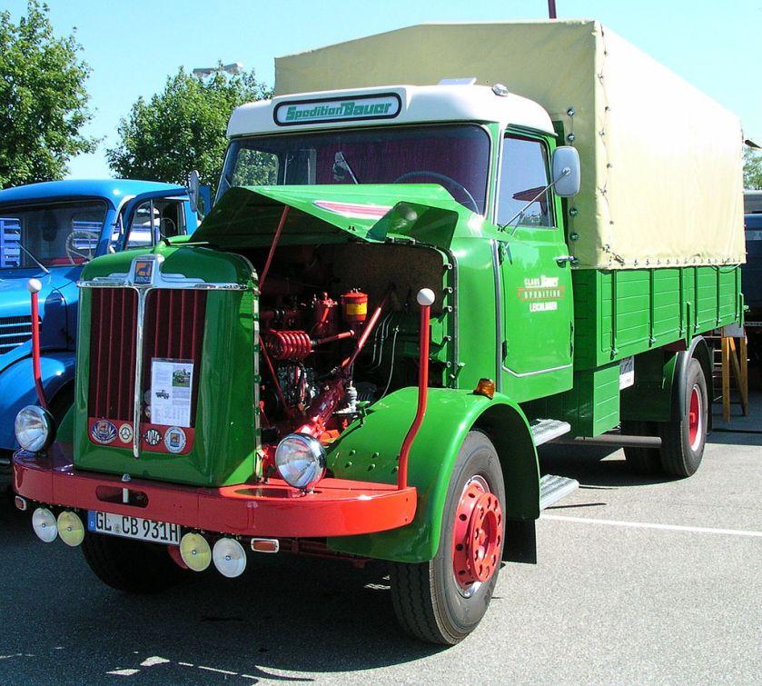 1959 Büssing LS 77, 7 Tonnen Nutzlast, 12 Tonnen Gesamtgewicht, 106 kW (145 PS), vmax 87 km