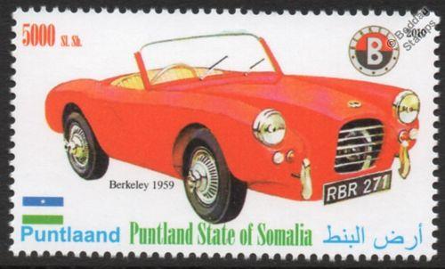 1959 BERKELEY B95 B105 Sports Car Automobile Stamp