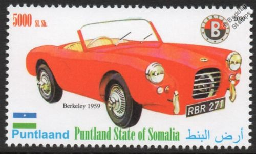1959 BERKELEY B95 B105 Sports Car Automobile Stamp