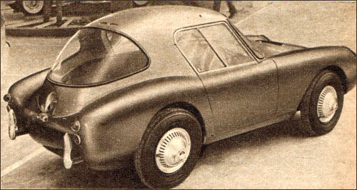 1959 Berkeley with Riva's hardtop at the Motor Show in Turin