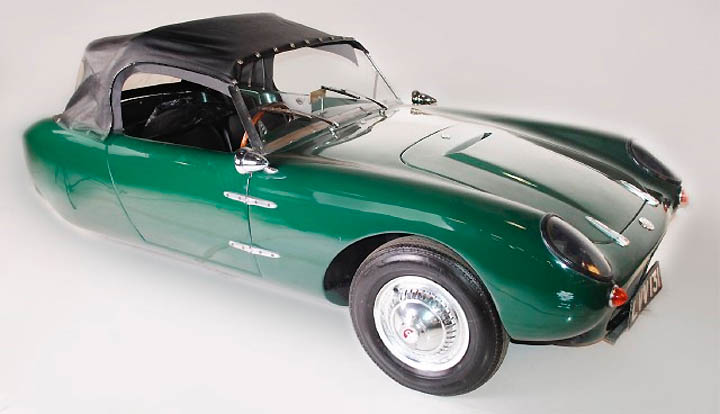 1960 Berkely T-60 three-wheeled convertible