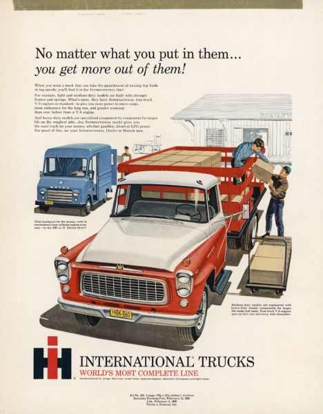 1960 International Truck Advertising Proof