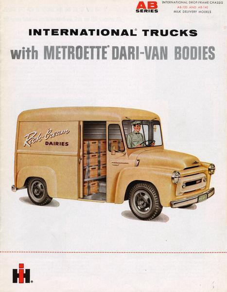 1960 International Trucks with Metroette Dari-Van Bodies