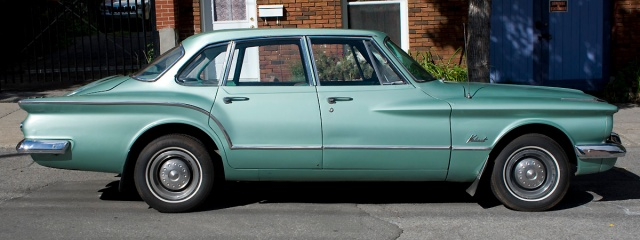 1960 Plymouth Valiant side view showing the semi-fastback