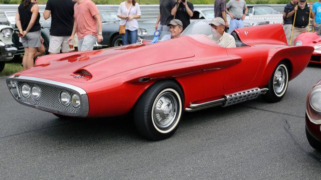 1960 Plymouth XNR concept car at the 2014 Lime Rock Concours d'Élegance