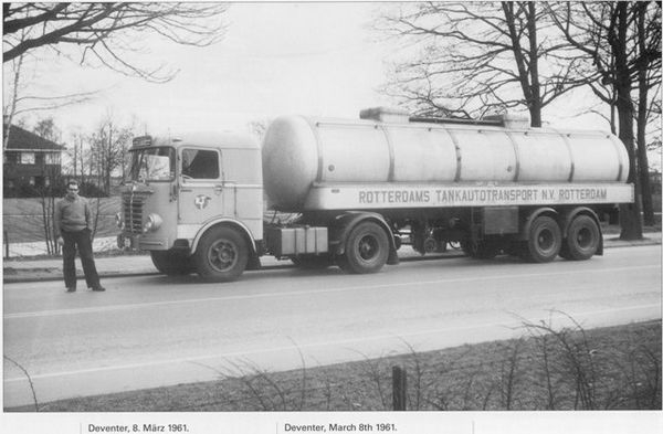 1961 Büssing R'dams Tanktransport Deventer 1961-03-08
