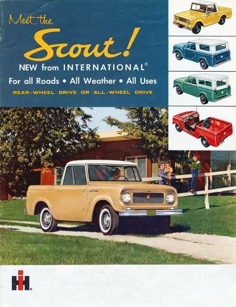 1961 Meet the International Scout for all roads, all weather, all uses !!