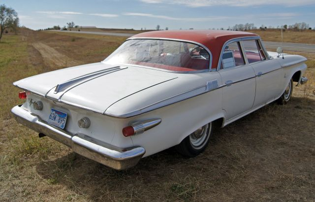 1961 Plymouth Fury 4dr sedan from the rear
