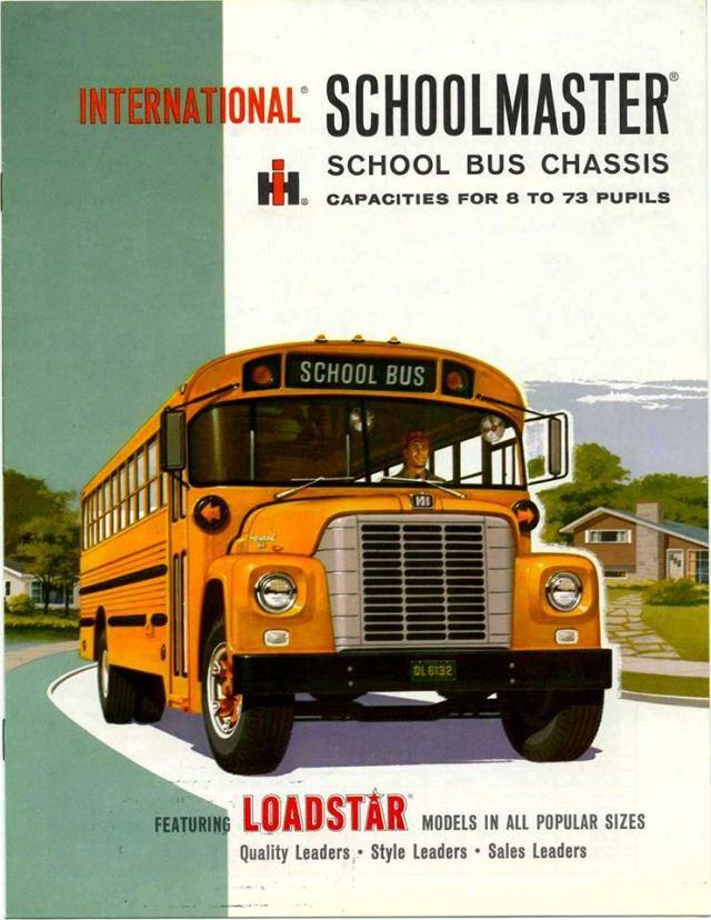 1962 1803 Schoolmaster included an International V-345, 8-cylinder, gasoline engine
