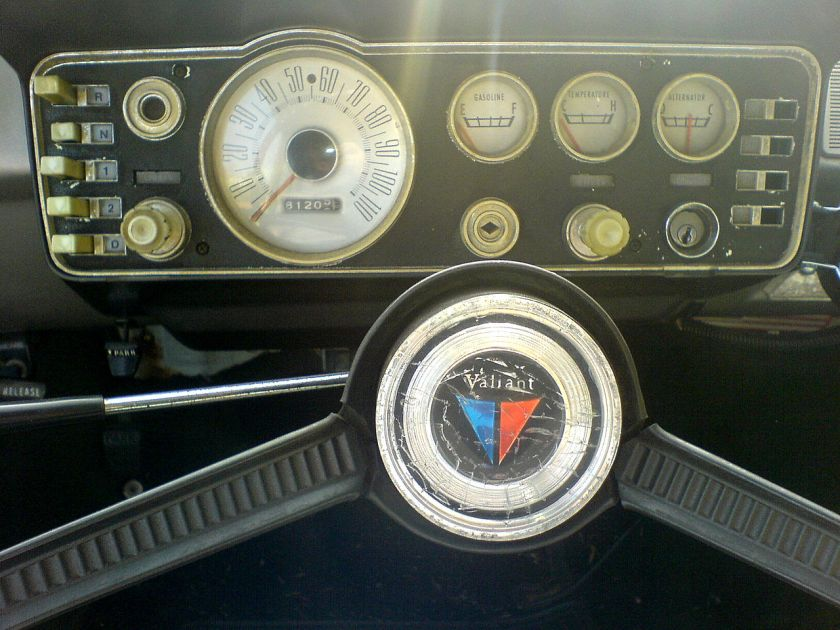 1962 Plymouth Valiant instrument cluster