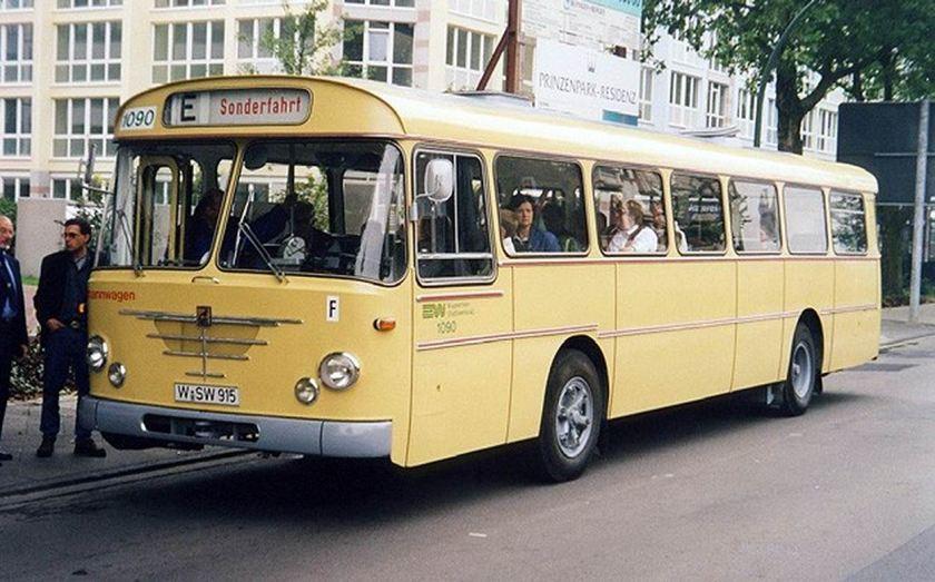 1964 Büssing Präfekt Linienbus Wuppertaler Stadtwerke WSW