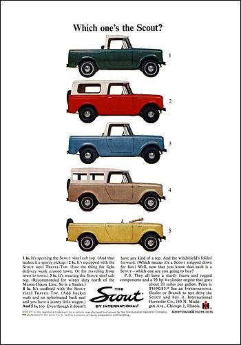 1964 international 1964 Scout Line