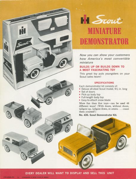 1964 International Scout Miniature Demonstrator