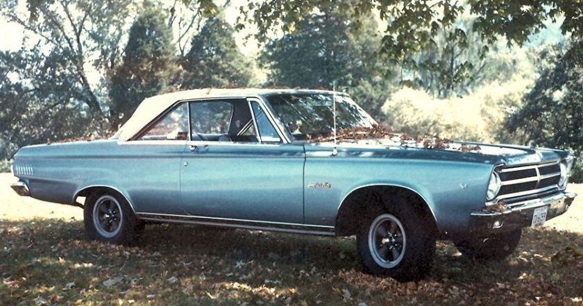 Photo of my 1965 Plymouth Satellite. Photo taken c. 1966