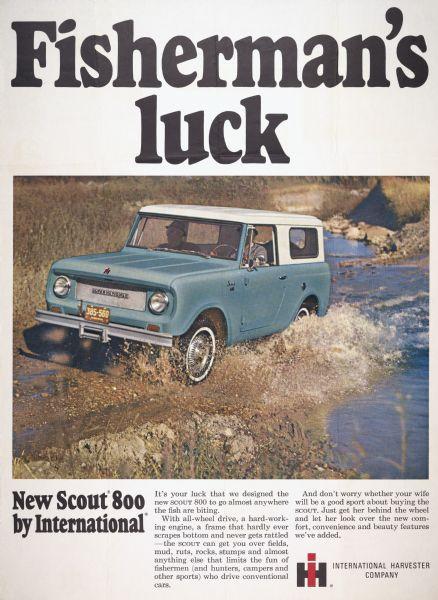 1966 International Scout 800 Advertising Poster