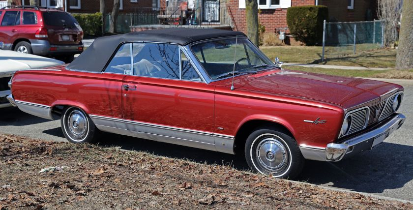 1966 Plymouth Valiant Signet Convertible front right