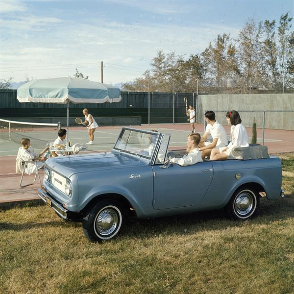 1967 Couples Watch Tennis Match from International Scout Pickup
