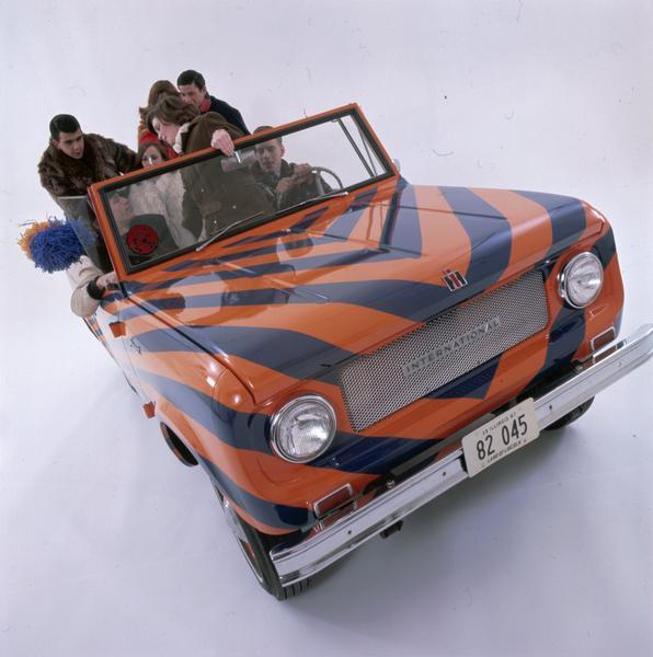 1967 International Scout Painted in University of Illinois Colors