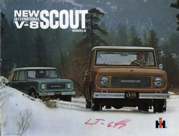 1967 International Scout V-8 Advertising Booklet