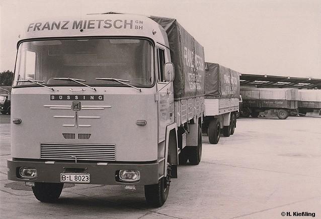 1968 Büssing BS 16 L Pritschenlastzug