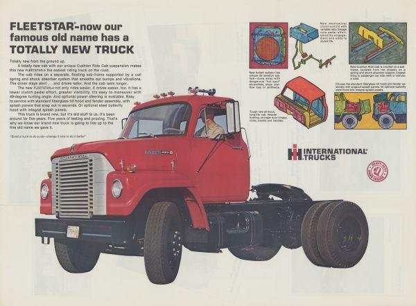 1968 International Fleetstar Advertising Poster