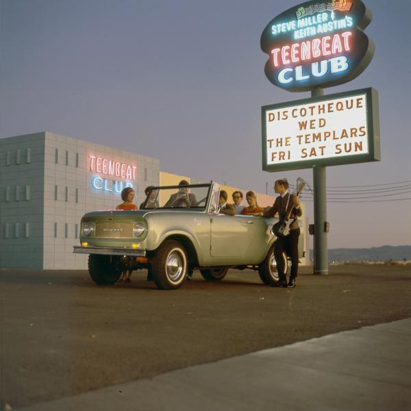 1968 International Scout pickup at the Teenbeat Club owned by Steve Miller