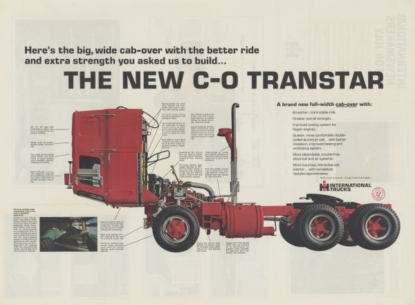 1968 International Transtar Advertising Poster