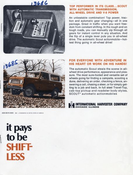 1969 Automatic Scout Advertisement