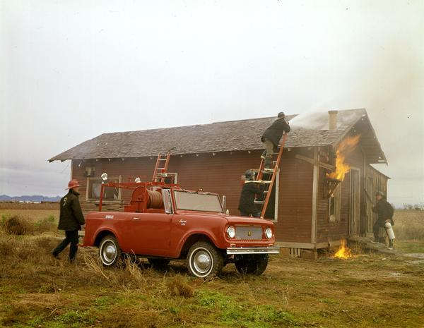 1969 Fire Fighters Practice with International Scout Fire Truck