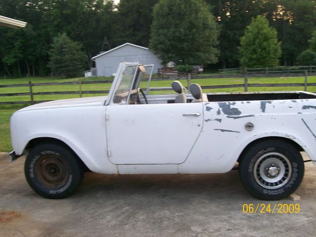 1969 International scout 800A with the top off