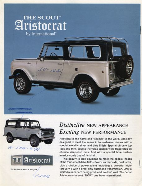 1969 International Scout Aristocrat Advertisement