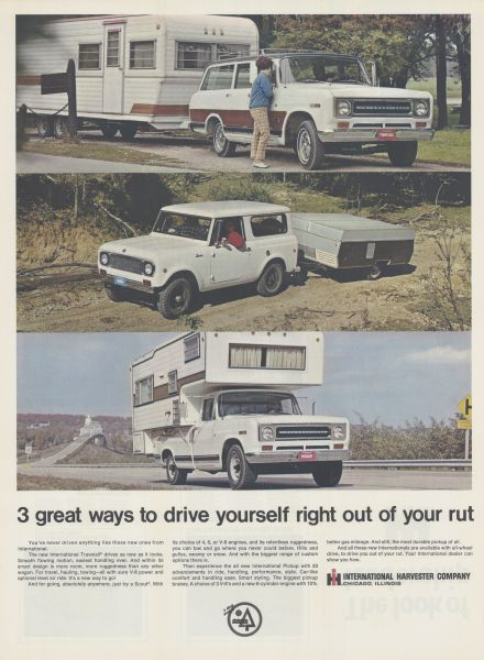 1969 International Trucks and Campers Advertising Poster