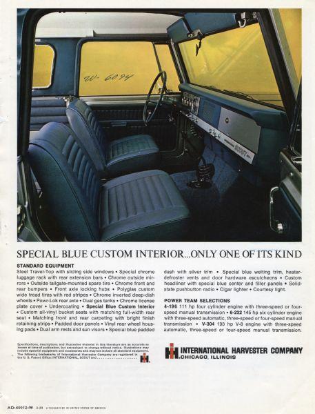 1969 Scout Aristocrat Advertisement