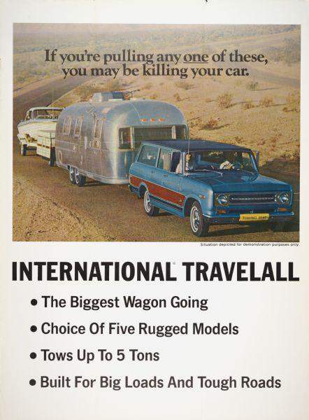 1970 International Travelall Advertising Poster