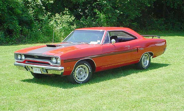 1970 Plymouth red GTX