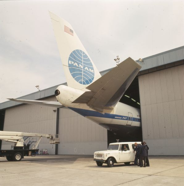 1970 Tail of Boeing 747 and International Scout