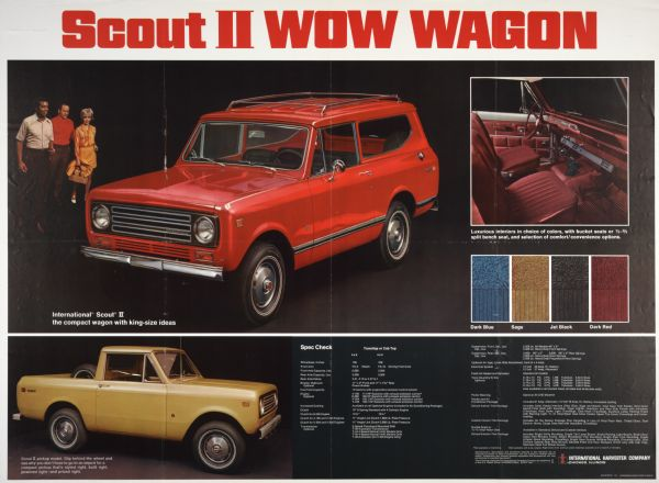 1971 International Scout II WOW Wagon Advertising Poster