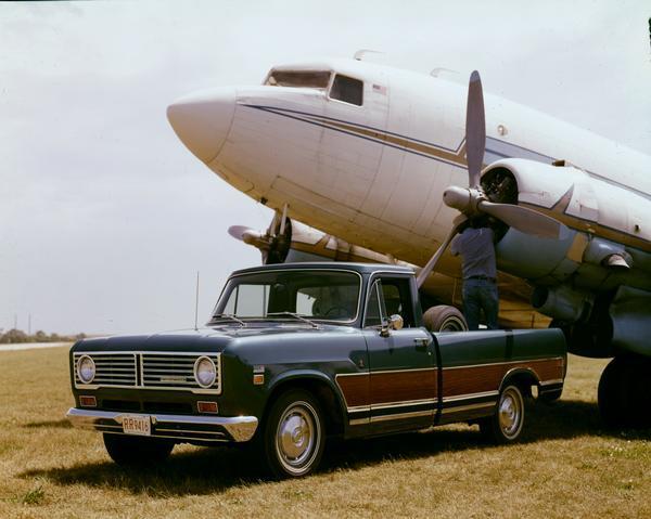 1972 Airplane Mechanic Works from International Truck